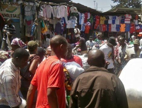 Traders pictured in Gikomba Market, Nairobi.