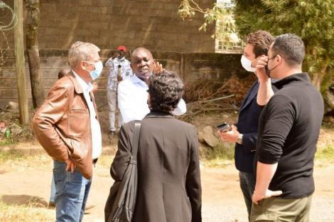 Kapseret MP Oscar Sudi with Turkish officials at Nairobi Area on August 7 2021