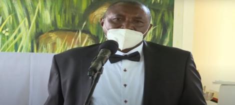 Bahati MP Kimani Ngunjiri speaking during his mother's funeral service in Nakuru on December 1, 2020