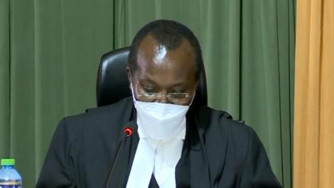 Court of Appeal President Justice Daniel Musinga at the Milimani Law Court delivering the judgment on the BBI Appeal on Friday, August 20, 2021