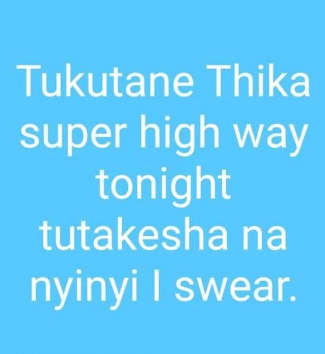 A screenshot of a whatsapp status posted by an officer stationed at Kasarani.