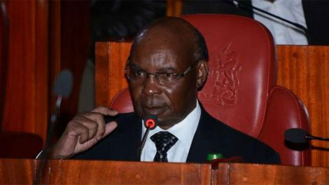 Citizen TV owner SK Macharia during a past address.