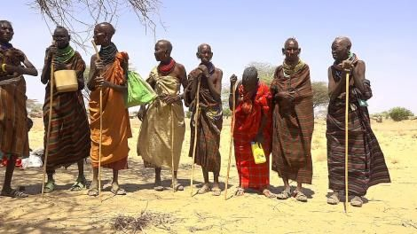 A section of residents living in Turkana County.