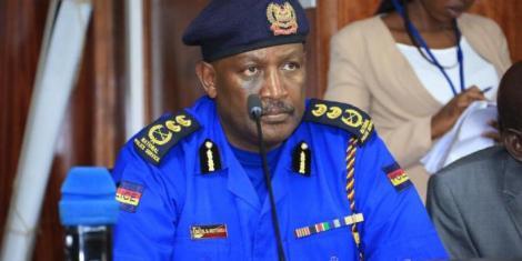 The Inspector General of the police, Hilary Mutyambai