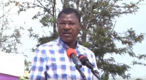 Bungoma Senator Moses Wetangula Addresses a Crowd on Saturday, September 4.