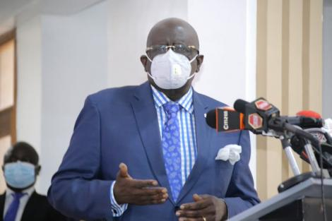 Education CS George Magoha during the release of 2021/2022 university and colleges placement results on August 17, 2021.