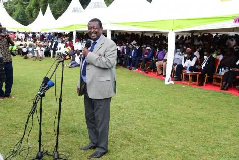 ANC Party Leader Musalia Mudavadi Addressing Residents of Nandi County on Tuesday, August 31.