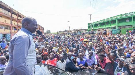 Deputy President William Ruto in Migori on Saturday, September 25, 2021
