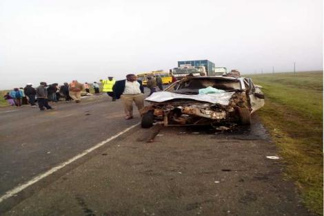 An accident along the Nairobi Mombasa highway