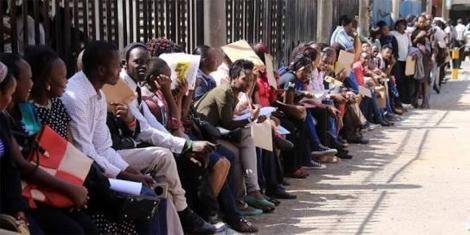 Job seekers in Kenya
