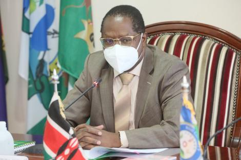 Council of Governors Chairman Martin Wambora pictured during the extra ordinary Council meeting held on April 19, 2021.