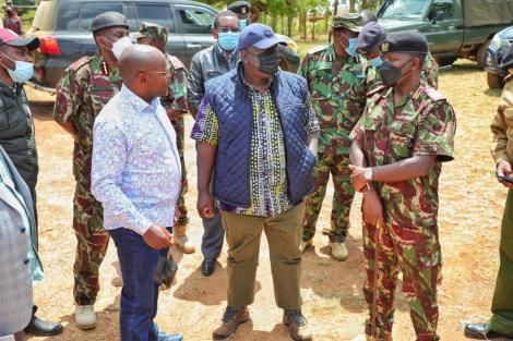 Interior Cabinet Secretary Fred Matiang'i in Laikipia on Friday September 10