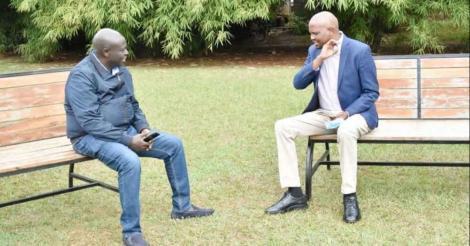 Mathira MP Rigathi Gachagua (left) and his Gatundu counterpart Moses Kuria.