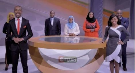 A section of Citizen TV anchors