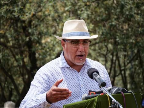 Tourism Cabinet Secretary Najib Balala during a visit to Maasai Mara on February 19, 2021