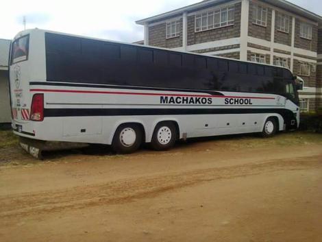 An undated photo of Machakos Boys High School bus