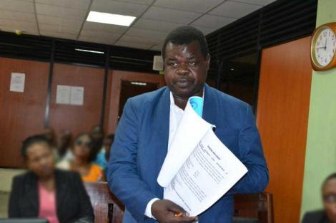 An undated photo of activist Okiya Omtatah during a past court session.