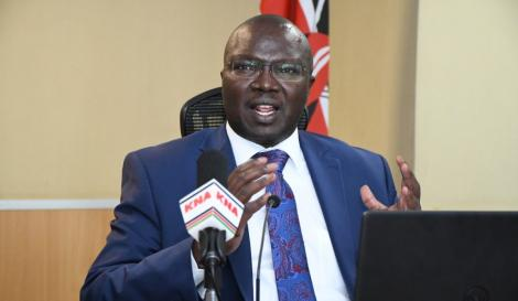Ministry of Labour and Social Protection Cabinet Secretary CS Simon Chelugui.