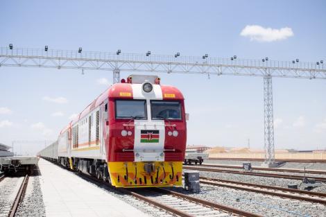 A Kenya Railways DF8B locomotive.FILE