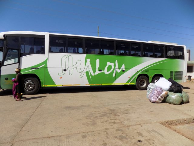 Traveling by bus in East Africa - Shalom