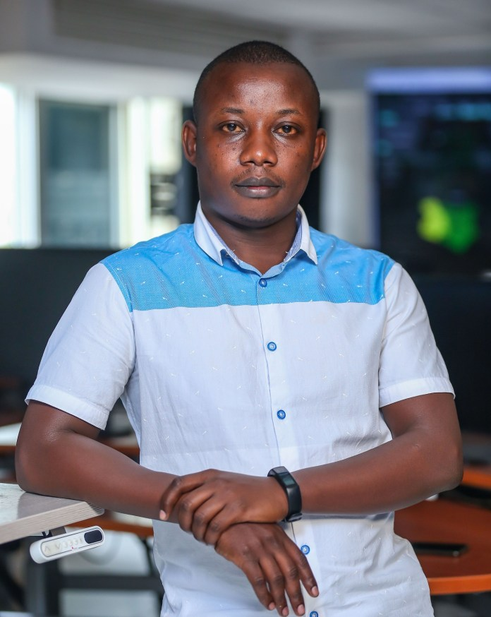 Meshack Kiminza- Team leader at the Safaricom's Network Control Centre