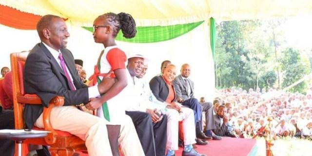 Deputy President William Ruto in Kandara constituency on Friday, March 6, 2020