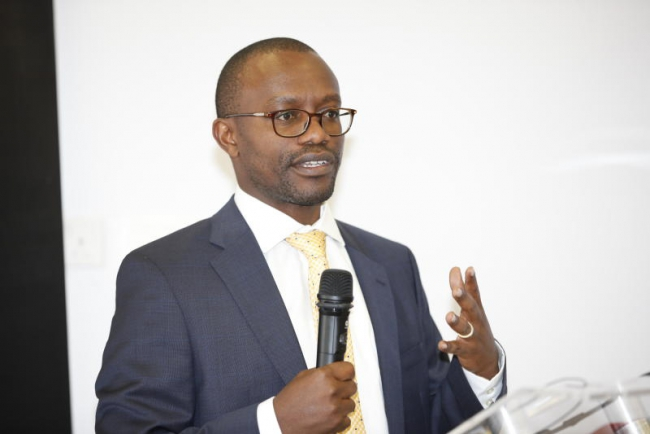 The Standard Group CEO Orlando Lyomu (pictured) delivered a speech at a ceremony in honour of the late Daniel Arap Moi.