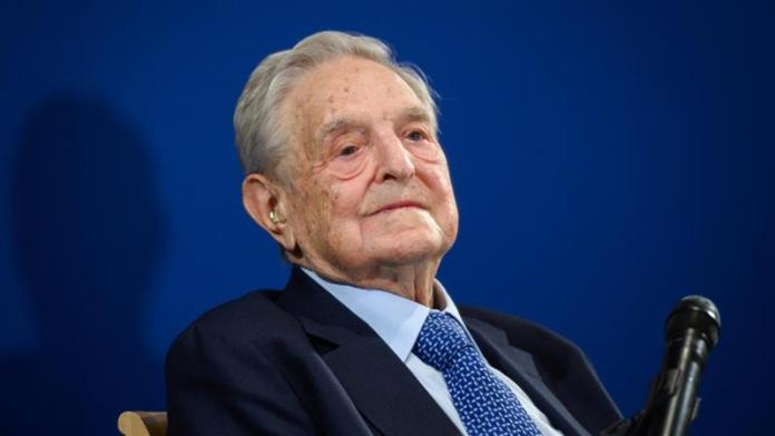 Hungarian-born US George Soros at the World Economic Forum annual meeting in Davos, Switzerland on January 23, 2020.