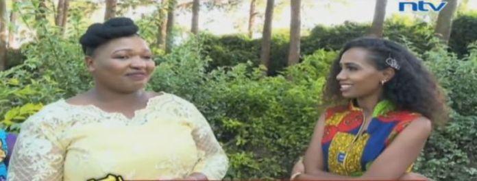 Celine Njoki speaks to NTV's Grace Ekirapa on her wedding day in Kikuyu on February 19, 2020.