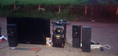 Some of the electronics seized by DCI after the manhunt in Kuresoi.