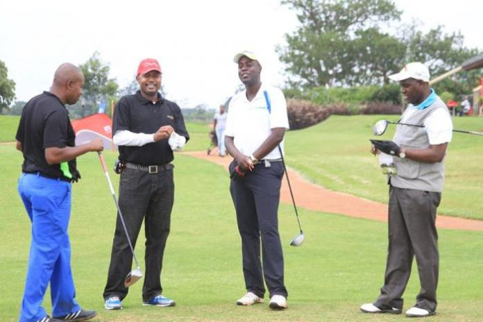A past photo of golfers during a golf tournament at the Thika Greens Golf Resort