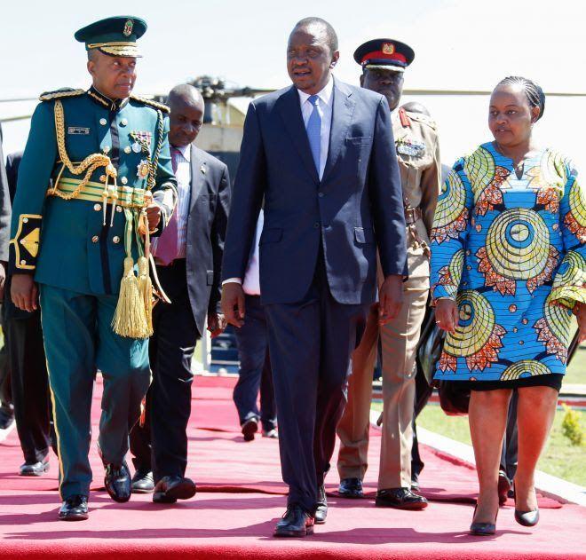 Uhuru with Waiguru in a past official function. Central Kenya businesspeople announced that Waiguru should be Uhuru's successor as the region's kingpin