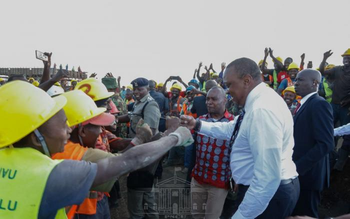 President Uhuru Kenyatta at Naivasha Dry Port on November 18, 2019.
