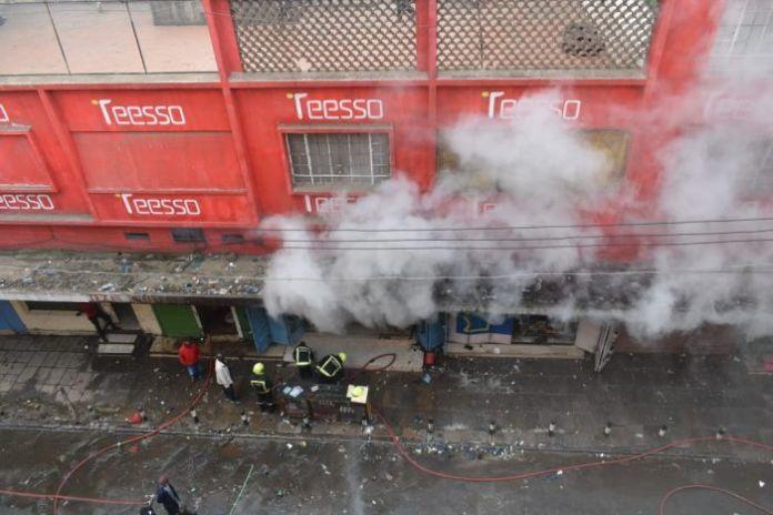 Fire razes Waringa building along Luthuli avenue on Saturday, February 15