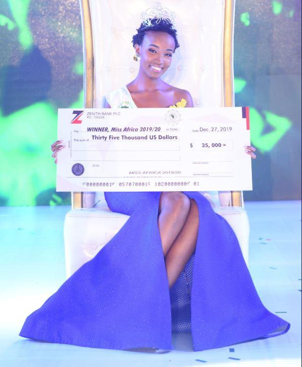 Image result for Kenyan, Irene Mukii, crowned Miss Africa 2019