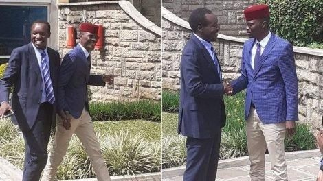 The Two MPs Dismus Barasa and Simba Arati shaking hands on November 17, 2019