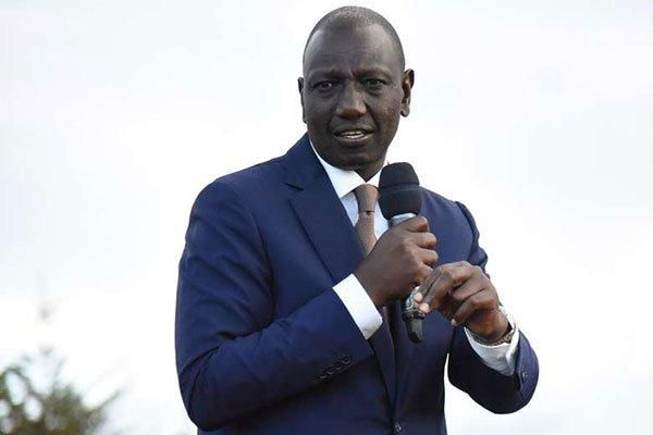 Deputy President William Ruto addresses a past political rally