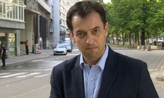 Kenyan-Born Journalist Damian Grammaticas reports for BBC from Liege, Belgium.