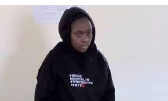 Ugunja Chief Inspector Sabina Kerubo when she appeared in a Siaya court on December 2, 2019, over the murder of journalist Eric Oloo