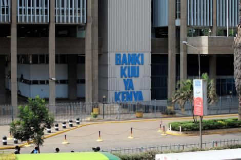 Central Bank of Kenya (CBK) building in Nairobi.