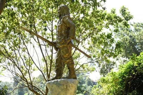 A statue of freedom fighter Dedan Kimathi that was unveiled in Nyeri County on February 18, 2020