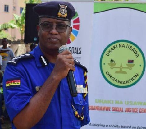 Nairobi Police Commander Rashid Yakub gives an address at a past function.
