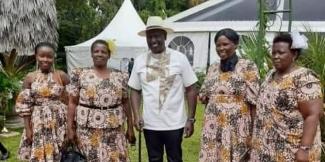 Deputy President William Ruto during his daughter's engagement party on Saturday, May 8