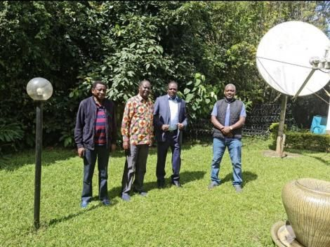 From left to right: Siaya Senator James Orengo, ODM party leader Raila Odinga, Kakamega Governor Wycliffe Oparanya, and Rarieda MP Otiende Amollo.
