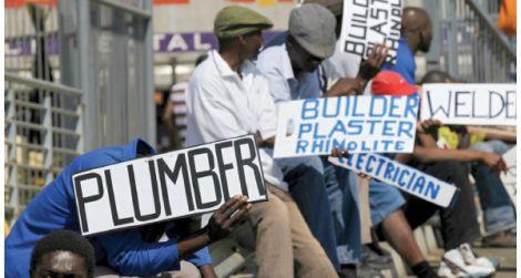 Job seekers in Kenya.