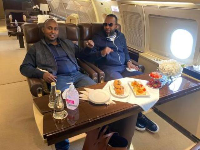 Suna East MP Junet Mohammed and Mombasa Governor Ali Hassan Joho pictured on their trip to Dubai on July 9, 2020