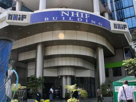 A photo showing National the Hospital Insurance Fund (NHIF) headquarters in Nairobi.