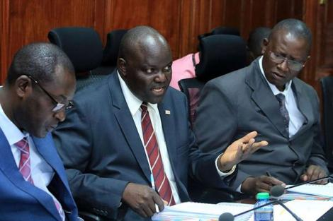 National Hospital Insurance Fund (NHIF) acting Chief Executive Officer Nicodemus Odongo speaking before the National Assembly Public Investments Committee on October 15, 2019.