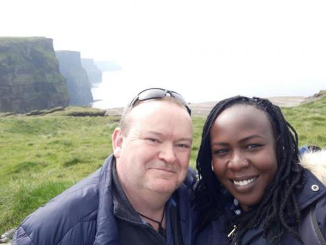Patrick Kinsella and his wife Mary Atieno.