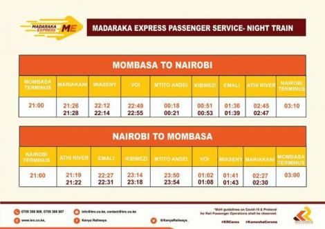 An image of the SGR schedule